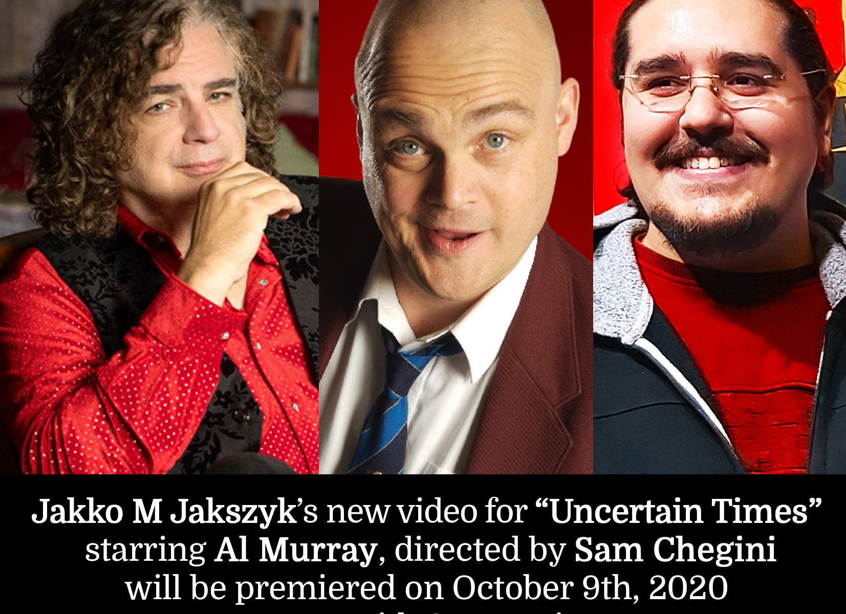 Jakko M Jakszyk Uncertain Times starring Al Murray directed by Sam Chegini